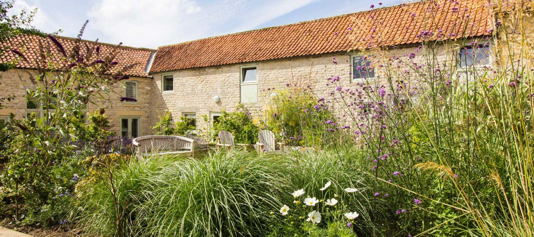 Garden courtyard, Town End Farm, Holiday let