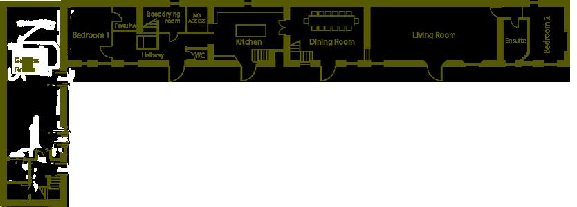 Ground floor, floor plan, Town End Farm